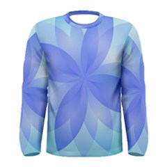 Abstract Lotus Flower 1 Men s Long Sleeve T Shirts