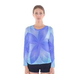 Abstract Lotus Flower 1 Women s Long Sleeve T-shirts
