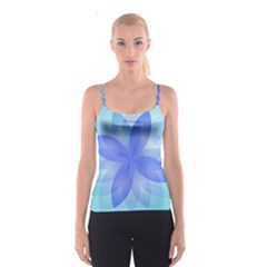 Abstract Lotus Flower 1 Spaghetti Strap Tops