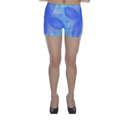 Abstract Lotus Flower 1 Skinny Shorts