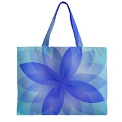 Abstract Lotus Flower 1 Zipper Tiny Tote Bags