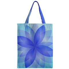 Abstract Lotus Flower 1 Zipper Classic Tote Bags