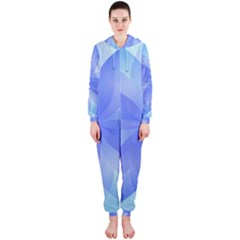 Abstract Lotus Flower 1 Hooded Jumpsuit (ladies)