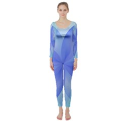 Abstract Lotus Flower 1 Long Sleeve Catsuit