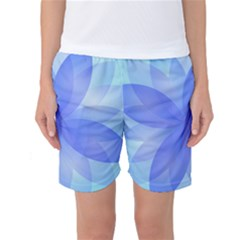 Abstract Lotus Flower 1 Women s Basketball Shorts