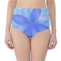 Abstract Lotus Flower 1 High-Waist Bikini Bottoms