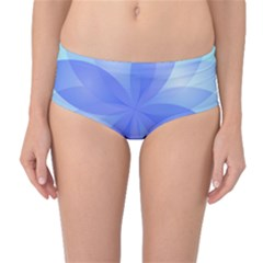Abstract Lotus Flower 1 Mid-Waist Bikini Bottoms