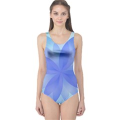 Abstract Lotus Flower 1 Women s One Piece Swimsuits