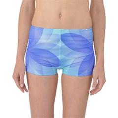Abstract Lotus Flower 1 Reversible Boyleg Bikini Bottoms