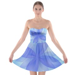 Abstract Lotus Flower 1 Strapless Bra Top Dress
