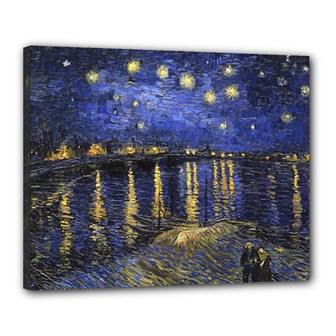 Vincent Van Gogh Starry Night Over The Rhone Canvas 20  x 16