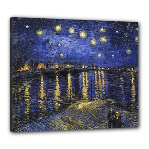 Vincent Van Gogh Starry Night Over The Rhone Canvas 24  X 20