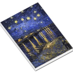 Vincent Van Gogh Starry Night Over The Rhone Large Memo Pads
