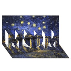 Vincent Van Gogh Starry Night Over The Rhone Mom 3d Greeting Card (8x4)
