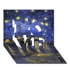 Vincent Van Gogh Starry Night Over The Rhone LOVE 3D Greeting Card (7x5)