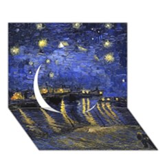 Vincent Van Gogh Starry Night Over The Rhone Circle 3D Greeting Card (7x5)