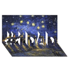 Vincent Van Gogh Starry Night Over The Rhone #1 Dad 3d Greeting Card (8x4)