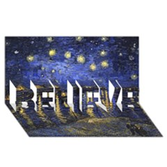 Vincent Van Gogh Starry Night Over The Rhone Believe 3d Greeting Card (8x4)