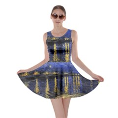 Vincent Van Gogh Starry Night Over The Rhone Skater Dresses
