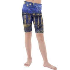Vincent Van Gogh Starry Night Over The Rhone Kid s swimwear