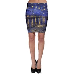 Vincent Van Gogh Starry Night Over The Rhone Bodycon Skirts
