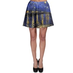 Vincent Van Gogh Starry Night Over The Rhone Skater Skirts