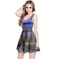 Vincent Van Gogh Starry Night Over The Rhone Reversible Sleeveless Dresses
