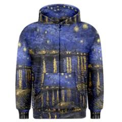 Vincent Van Gogh Starry Night Over The Rhone Men s Zipper Hoodies