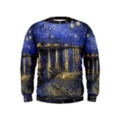 Vincent Van Gogh Starry Night Over The Rhone Boys  Sweatshirts