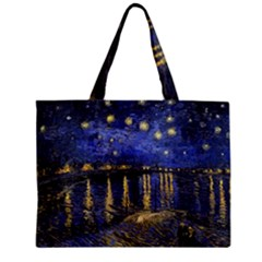 Vincent Van Gogh Starry Night Over The Rhone Zipper Tiny Tote Bags