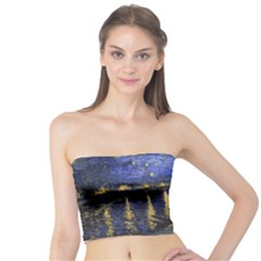 Vincent Van Gogh Starry Night Over The Rhone Women s Tube Tops