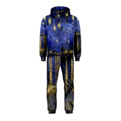 Vincent Van Gogh Starry Night Over The Rhone Hooded Jumpsuit (Kids)