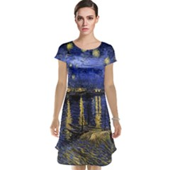 Vincent Van Gogh Starry Night Over The Rhone Cap Sleeve Nightdresses