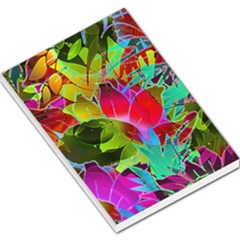 Floral Abstract 1 Large Memo Pads