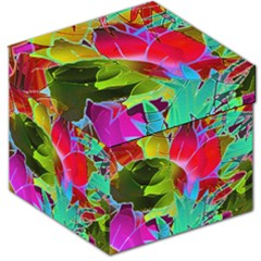 Floral Abstract 1 Storage Stool 12
