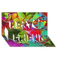 Floral Abstract 1 Best Friends 3d Greeting Card (8x4)