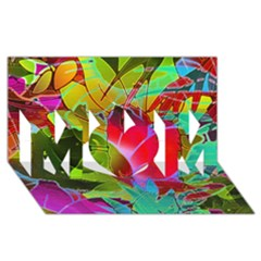 Floral Abstract 1 MOM 3D Greeting Card (8x4)