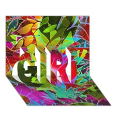 Floral Abstract 1 GIRL 3D Greeting Card (7x5)