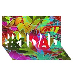 Floral Abstract 1 #1 DAD 3D Greeting Card (8x4)
