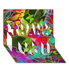 Floral Abstract 1 Thank You 3d Greeting Card (7x5)