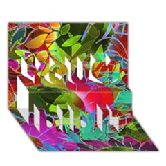 Floral Abstract 1 You Did It 3d Greeting Card (7x5)