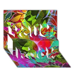 Floral Abstract 1 You Rock 3d Greeting Card (7x5)