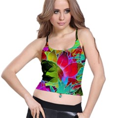 Floral Abstract 1 Spaghetti Strap Bra Tops
