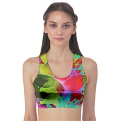 Floral Abstract 1 Sports Bra