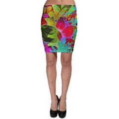Floral Abstract 1 Bodycon Skirts