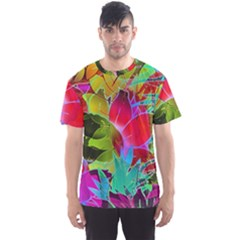Floral Abstract 1 Men s Sport Mesh Tees