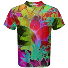 Floral Abstract 1 Men s Cotton Tees