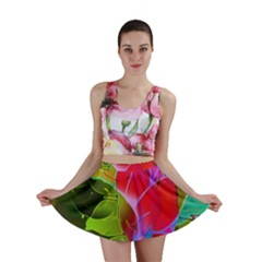 Floral Abstract 1 Mini Skirts