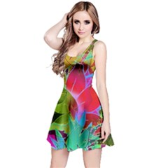 Floral Abstract 1 Reversible Sleeveless Dresses