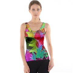 Floral Abstract 1 Tank Tops